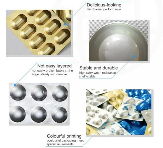 Cold Forming Aluminium Foil For Pills Tablets Capsule Blister Packaging