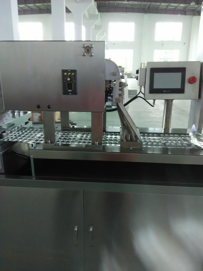 Flat Type 250E Alu Alu Blister Packing Machine For Medicine Double Aluminum Packaging
