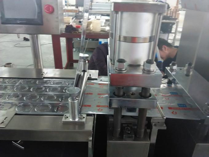 Mini Pharmaceutical Blister Packaging Machines / Wrapping Blister Line With Step Motor