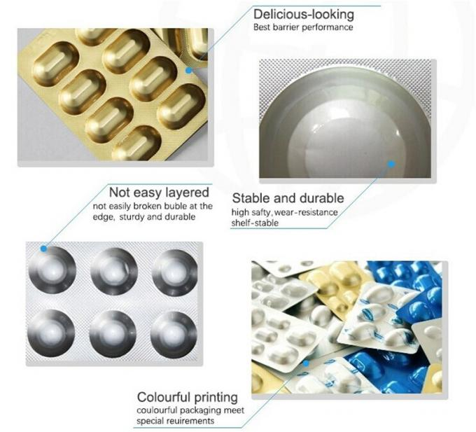 Cold Forming Blister Packaging Materials Aluminum Foil Blister Packing Material