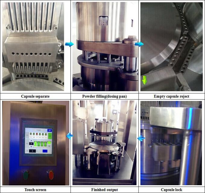 Small VibrationFully Automatic Empty Capsule Filling Machine For Powder Pellet