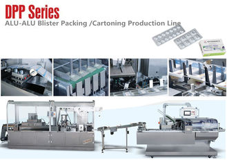 China DPP Series Small Alu Alu Blister Packing Machine Carton Production Line for Medical Package factory