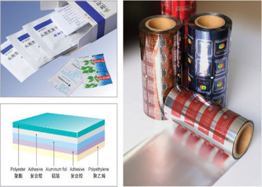 PET AL PE 3- Layers Blister Packaging Materials Laminated Composite Aluminum Foil