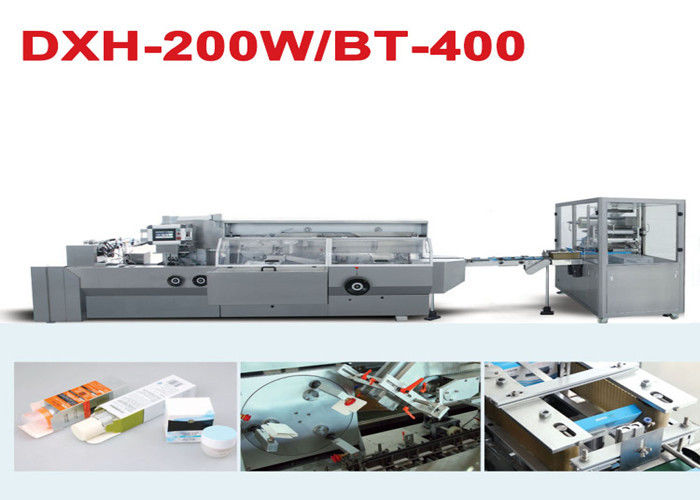 Touch Screen Cosmetic Blister Line Cartoning And 3D Film Over Wrapping supplier
