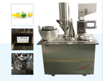 China New style Semi-automatic Capsule Filling equipment with PLC control distributor