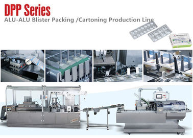 China DPP Series Small Alu Alu Blister Packing Machine Carton Production Line for Medical Package distributor