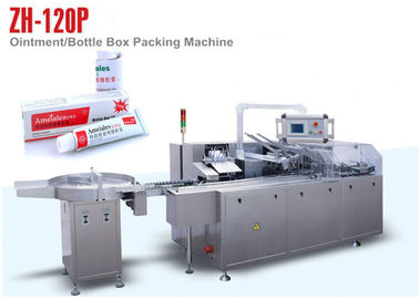 China Ointment Box Auto Packing Machine for Cosmetic Package , 100 Boxes Per Min Output distributor