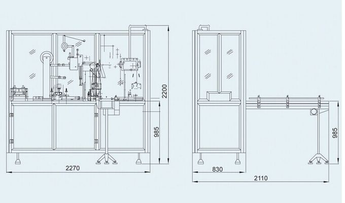 Automatic Cam Driving Cellophane Film Packing Machine / Film Wrapping Machine