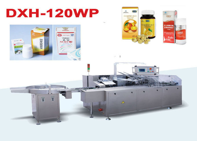 SS304 medicine Bottle Cartoning Machine / Automatically Carton Sealing Machines