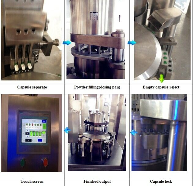 Auto Powder Pellets Hard Capsules Filling Machine Fully Enclosed Type