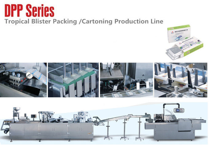 Professional Durable DPP Series Blister Line Tropical Blister Packing Machine