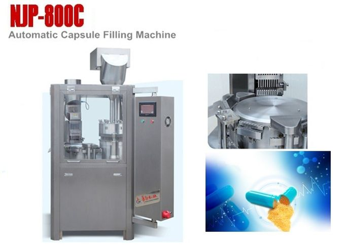 CE ISO Approval Automatic Capsule Filling Machine 800 Capsules / Min NJP-800C