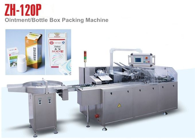PLC Control ZH 120P Automatic Cartoning Machine for Small Medicine Bottle