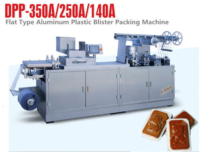 Chocolate Flat Plate Automatic Blister Packing Machine Blister Pack Sealing Machine