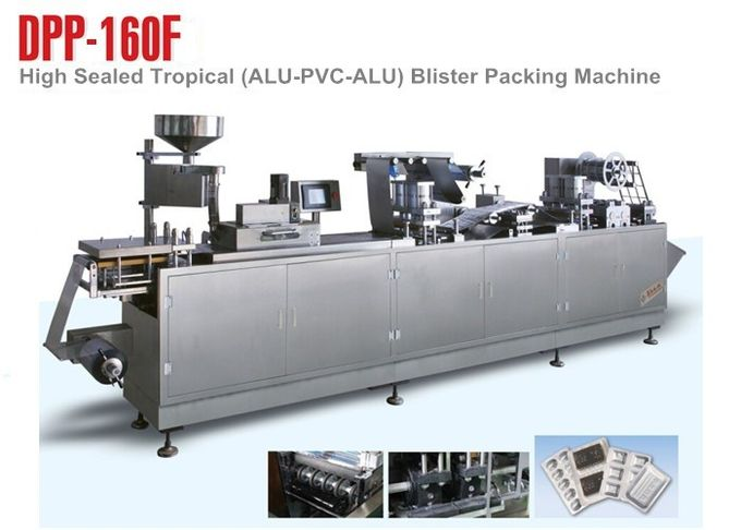 Aluminum Plastic Blister Line Pharmaceutical Packaging Machine CE Certificated